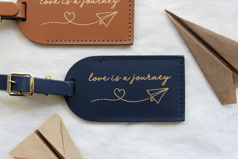 Wedding Favors Luggage Tags Love Is A Journey Bridesmaid Etsy