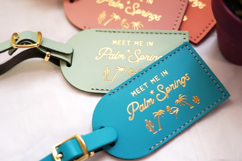 Palm Springs Bridesmaid Gift Luggage Tags for Proposal Box image 0