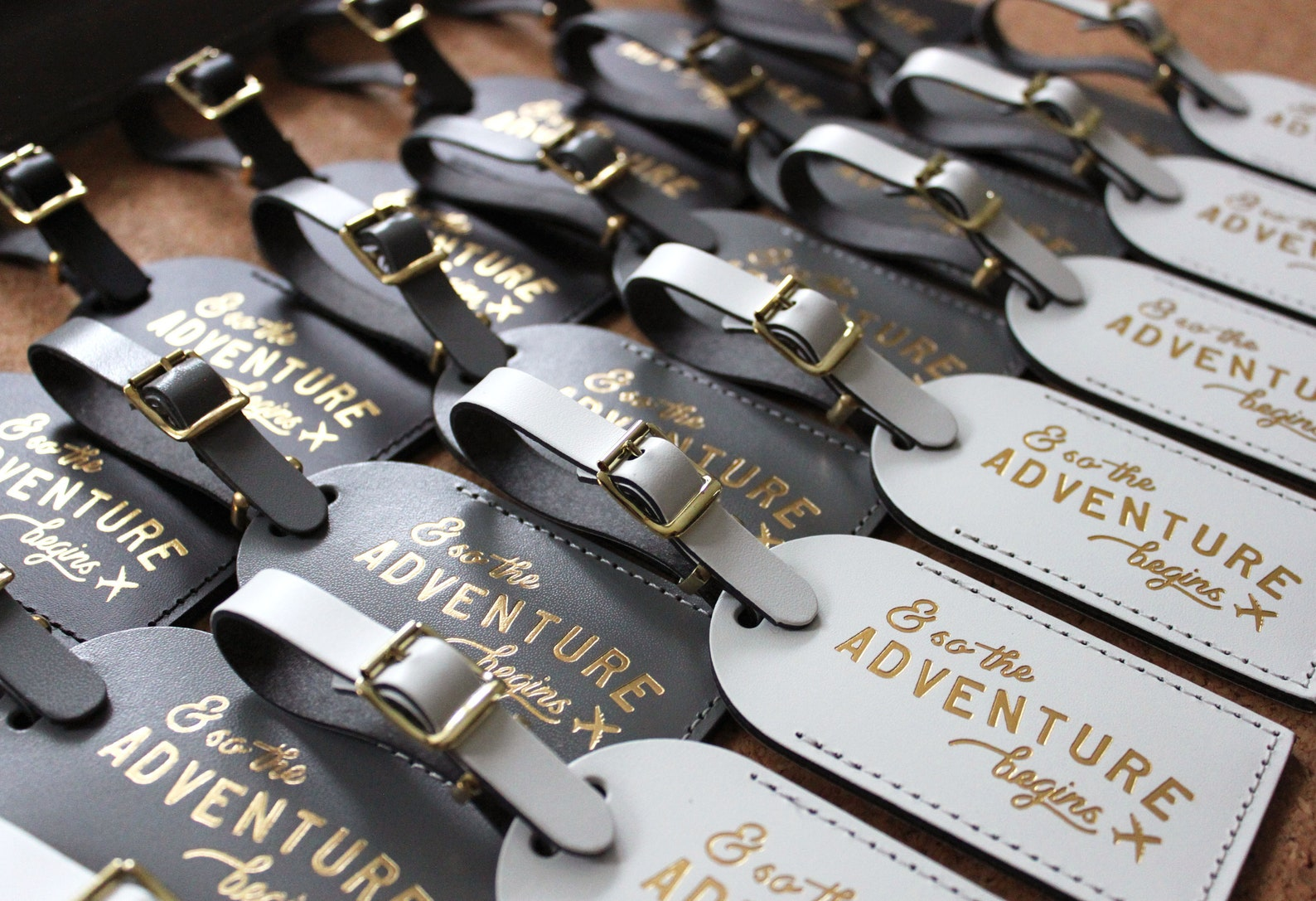 Wedding favour luggage tags