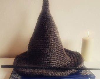 Adult Wizard Hat Crochet Pattern (US)