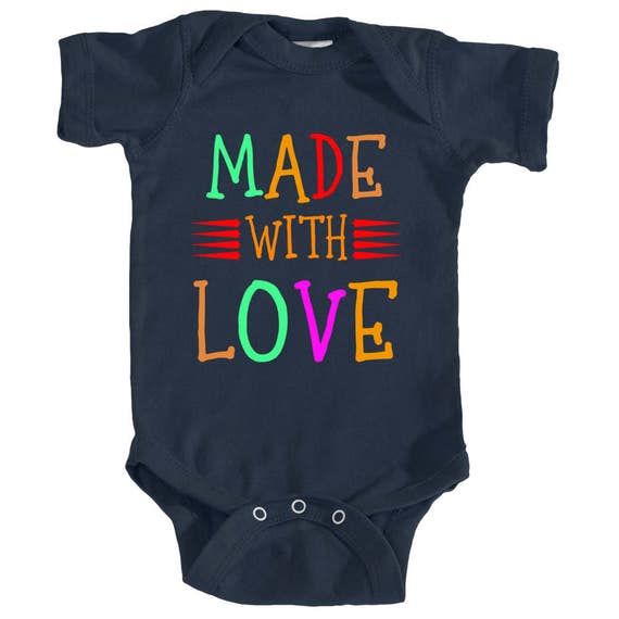 ae09b6413c2 Made With Love onesie Made With Love baby onesie Love