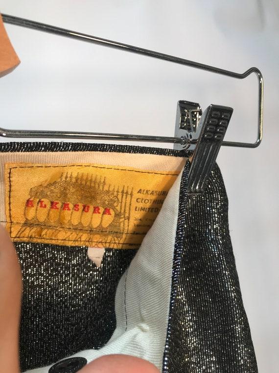 Alkasura Vintage 1970s Black Shimmer Pants Sold at