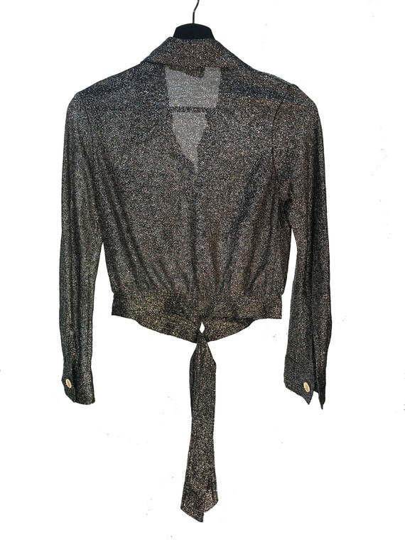 Vintage 1970s Mr Freedom Blk with Silver Lame butt