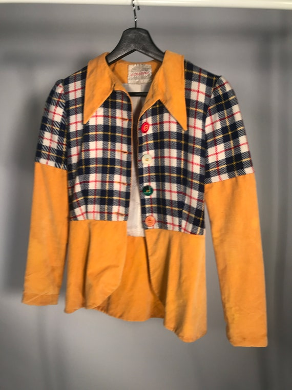 Alkasura Vintage 1970s Yellow Plaid Suit Sold at J