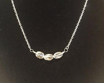3 stone Citrine Necklace