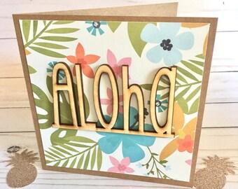 Hawaiian card etsy aloha greeting card hawaiian greeting card hello greeting card tropical cards tropical cards blank hawaii cards aloha cards m4hsunfo
