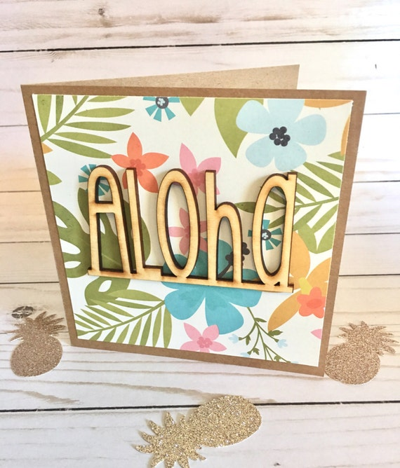 Aloha greeting card hawaiian greeting card hello greeting etsy image 0 m4hsunfo