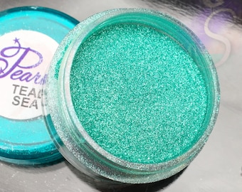 NEW - Teal Sea Pearlz Mica Pigment Powder, Sparkling Teal Resin And Polymer Clay Pigment Mica, Resin Molding