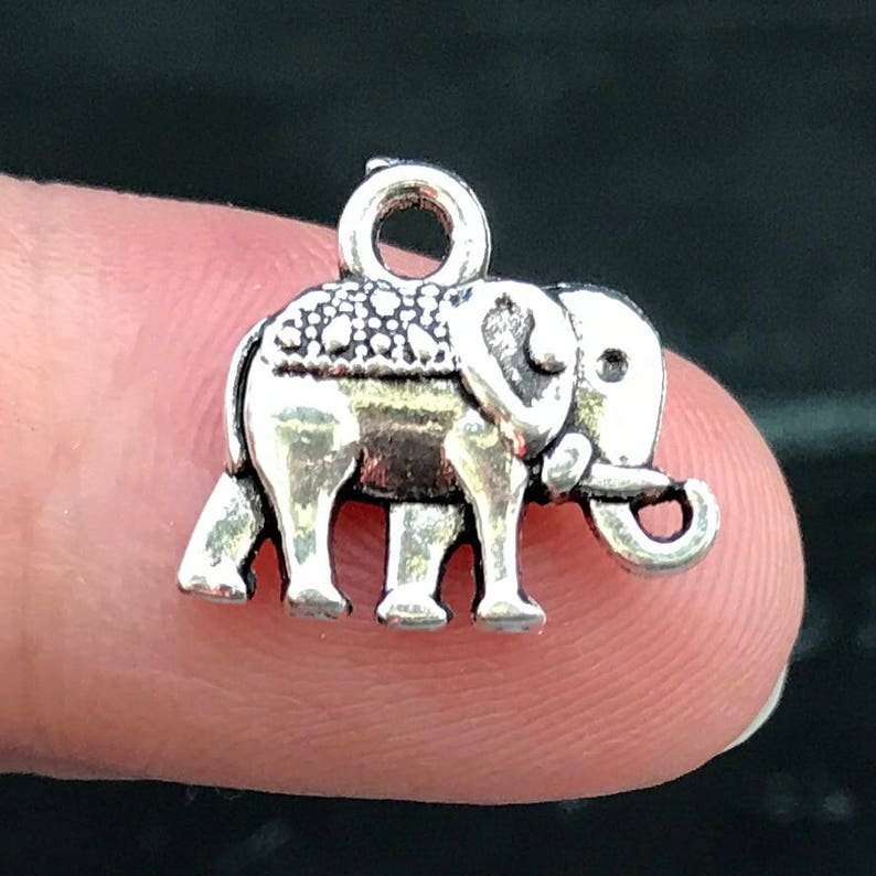 4x Tibetan Silver Large Elephant Head Charms Pendant For Necklace Jewelry Making