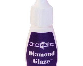 Diamond Glaze, 10 ml Squeeze container, Judikin's Diamond Glaze clear shiny Glue