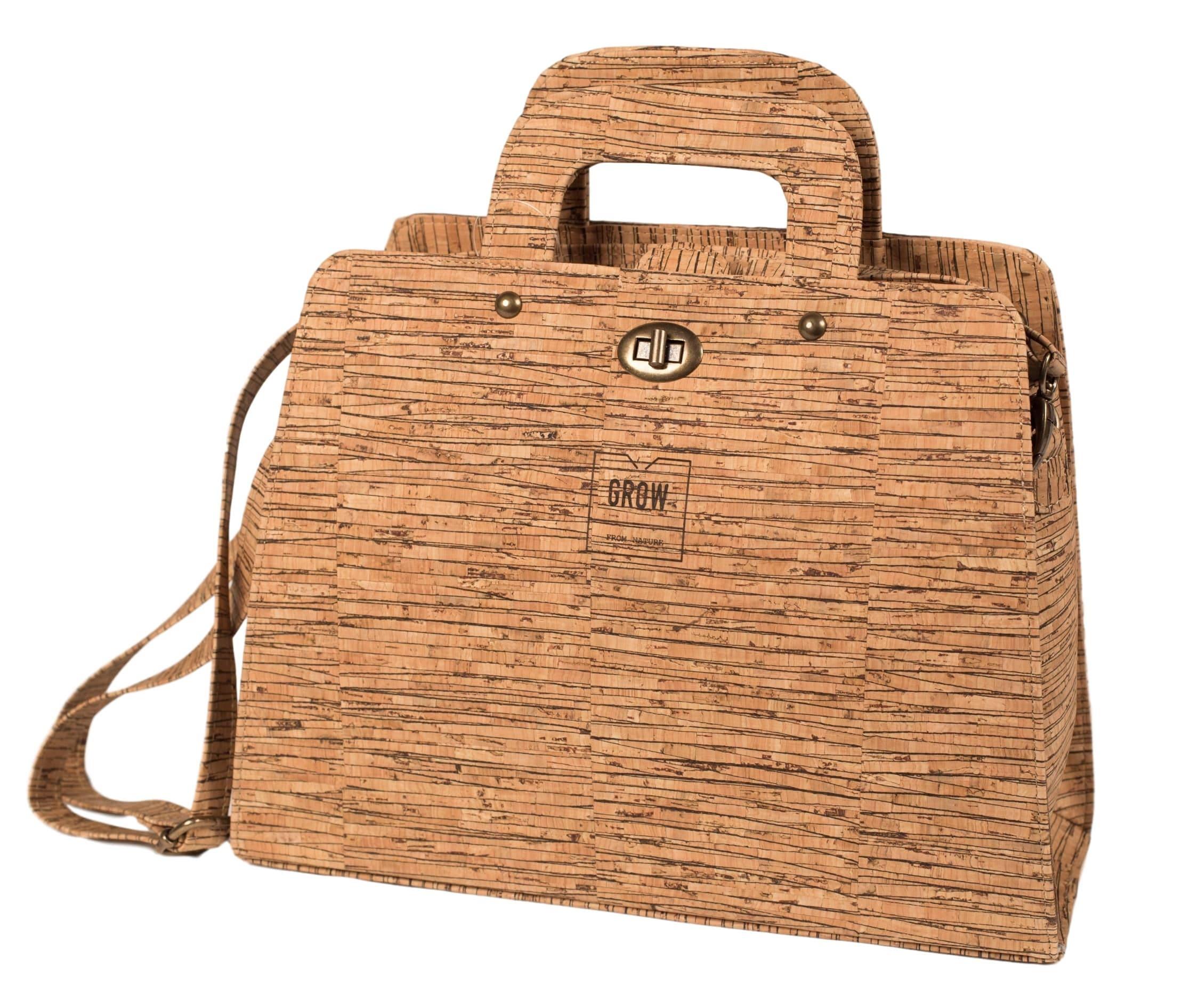 Cork Handbags: Womens Cork Leather Handbag Vegan Leather Vegan Bag Eco