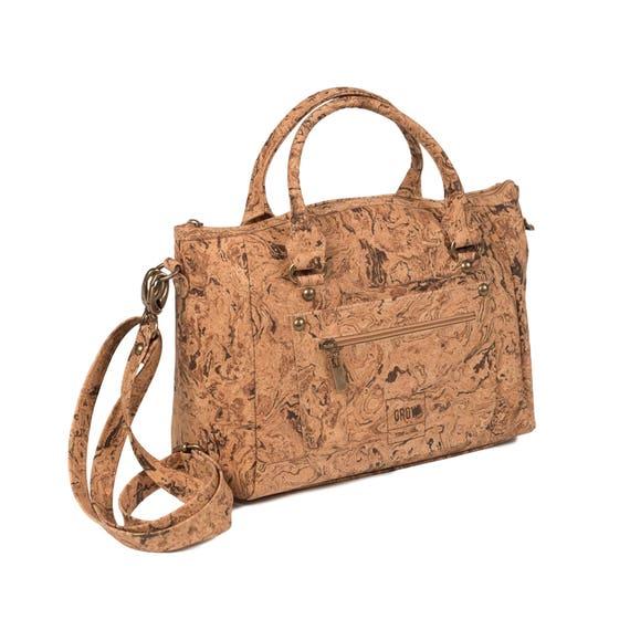 Bolso más bolso bandolera Hecho de corcho, cuero vegano, cuero vegano, ecológico y sostenible, ideas de regalo, Kork, Lieja