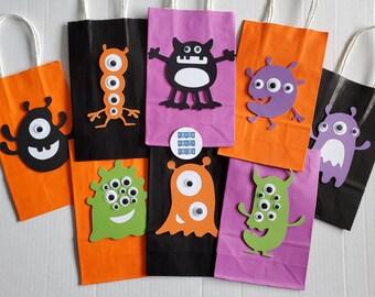 Set of 12 Monster Mash Favor Bags Monster Birthday party