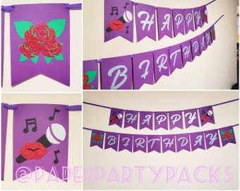 Music Singer Birthday Banner