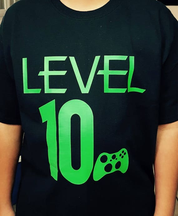 Video Gamer Level 10 Shirt Game Controller Birthday Boy