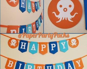 Octopus Themed Banner