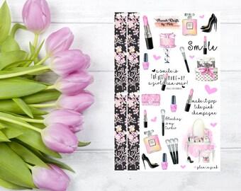 Plan in Pink Makeup Planner Stickers