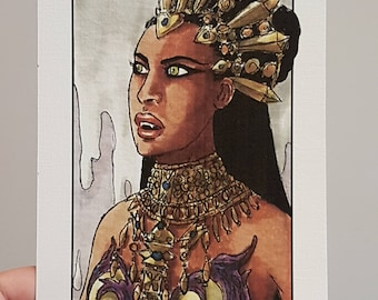 Villain Clans Akasha (Queen of the damned) - A6/A5/A4 print on acrylic paper  sc 1 st  Etsy & Queen of the damned | Etsy