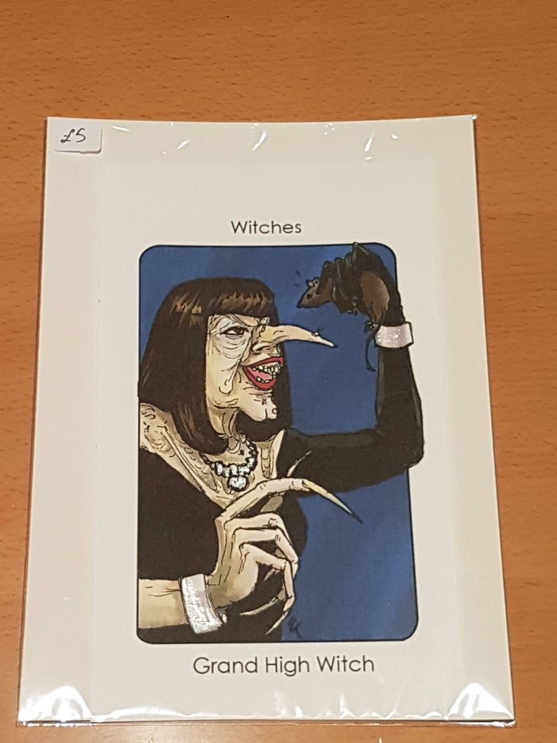 Villain Clans Grand High Witch (The Witches) - A6/A5/A4 print on  heavyweight cartridge paper