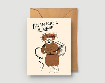 Belsnickel Is Nigh! Christmas Greeting Card - Holiday Card - The Office - Dwight Schrute - Single or Boxed Cards Set