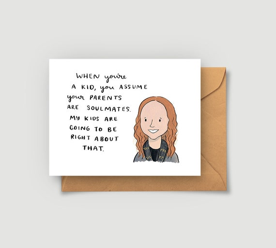 Pam Beesly Quote Greeting Card The Office Tv Show Jim Etsy