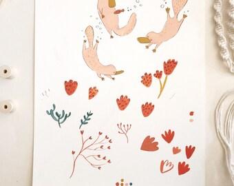 Original Painting - Dancing Platypus