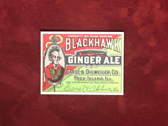 Lot of 100 Vintage Sanitary Pale Ginger Ale Soda Labels Indiana