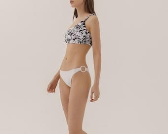 Mid Rise Basic Bikini Bottom  Red Solid Hipsters Swimming Pants  Women Handmade Bikini Trousers