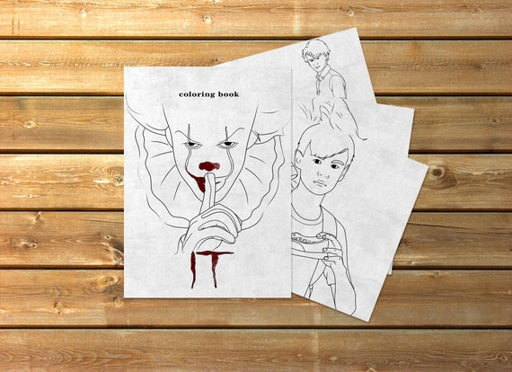 It Pennywise Coloring Book Etsy