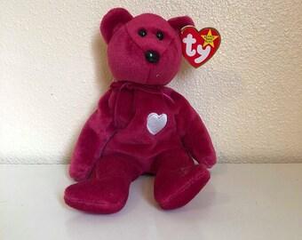 d03e2d2de20 Beanie Baby Babies Valentina the Bear with Tags TY 1999