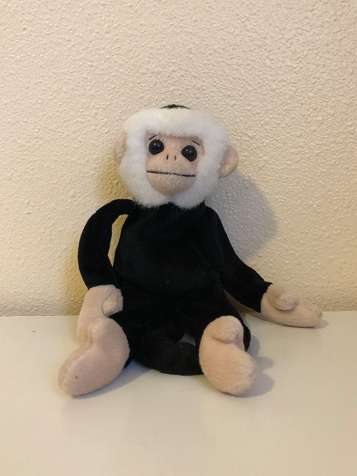 Beanie Baby Mooch the Monkey Missing Hang Faded Tush TY 1999  f95a9b38c5b