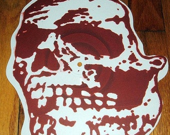 "Jeromes Dream / Orchid Split 10"" Skull Shaped Red Screen Printed Vinyl Record"