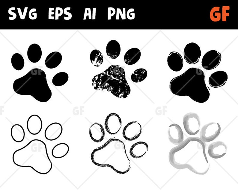 Paw Clipart Paw Svg Paw Vector Print Paw Clip Art Paw Cut File Dog Paw Cricut Svg Dog Paw Png Track Clipart Traces Of Animal Png Ai