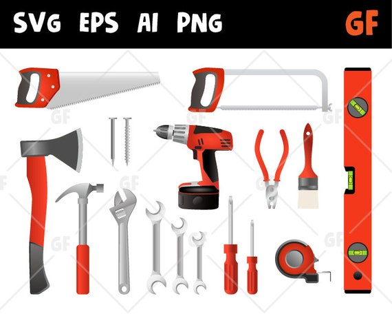 photograph regarding Printable Tools called Daddys instruments clipart, equipment vector clip artwork, daddys resources svg, applications sbooking, resources printable, ax, drill, observed, hammer, flip-screw, ai