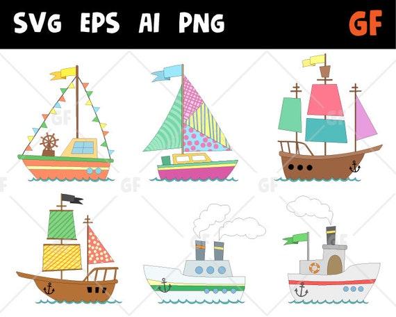 graphic relating to Sailboat Printable titled Ships vector clipart, boat clip artwork, Nautical Clipart, deliver clipart, sail clipart, sailboat printable, boat sbooking, svg boat, svg mail