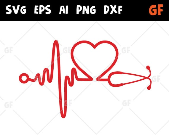 Heart Beat Svg Ekg Svg Heartbeat Dxf Doctor Nurse Ekg Etsy