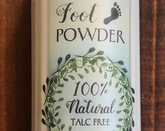 Foot Powder 100% Natural Talc Free 6 oz