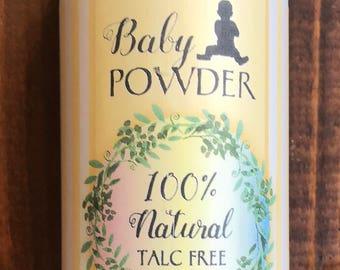 Baby Powder 100% Natural Talc Free 6 oz