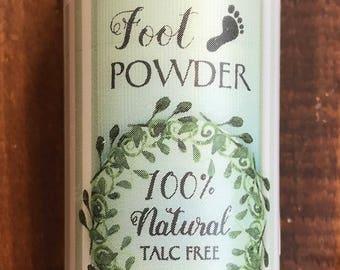 Foot Powder 100% Natural Talc Free 3 oz
