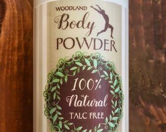 Woodland Body Powder 100% Natural Talc Free 6 oz