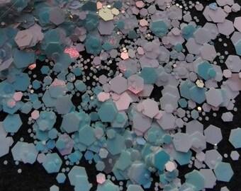 Chunky Pastel Blue Glitter - 5 grams - 0.18 oz, nail art, resin