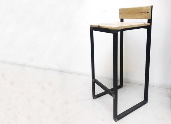 Sgabello bar in legno e ferro etsy
