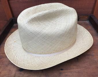 Vintage Panama Stetson Gentlemans Hat Stamped John B Stetson 141c186e38db