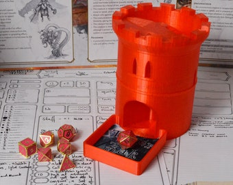 Personalised Dungeons & Dragons Dice Tower - Tabletop Gaming D20 DND