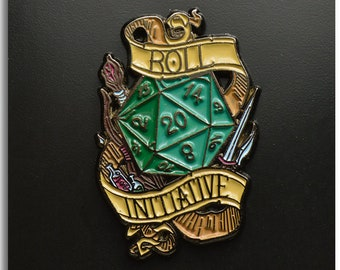 7d90ddbcace Roll for Initiative Dungeons   Dragons Enamel Pin DND