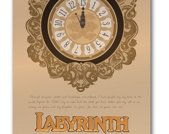 Labyrinth 13 O'clock Print 12x16