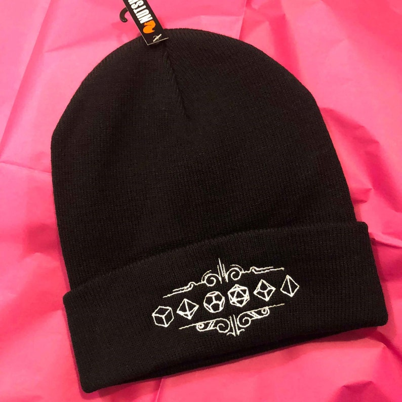 02ad6a3d24f Polyhedral Dice Beanie Perfect For Every DND Fan