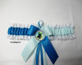 May the 4th be with you Star Wars Licenced tags on lace wedding garter set Darth Vader Yoda Jedi may the force be with you garter Plus size