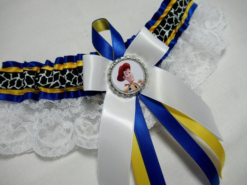 SatinLace Handmade Cartoon Sheriff  lace keepsake bridal wedding Garter