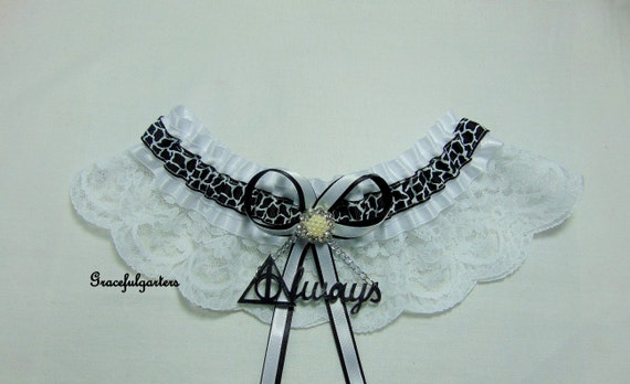 satinlace All Colours Handmade WizardMagic house inspired  Lace themed keepsake Bridal Wedding Garter